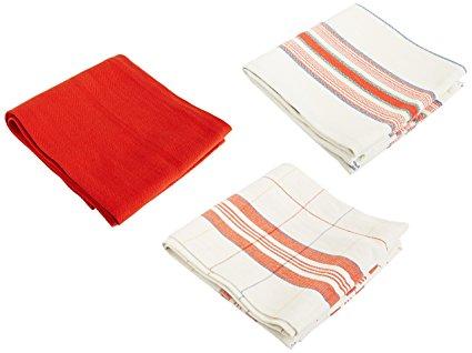 Le Creuset Kitchen Towels, Cerise (Cherry Red)