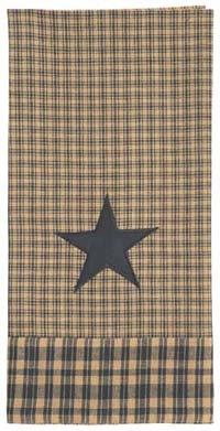 Vintage Star Black Dish Towel - Set of 6