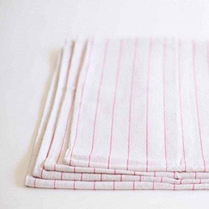 60 100% COTTON TOWELS RED STRIPES DISH GLASS TOWELS LINT FREE FLOUR SACK TOWEL
