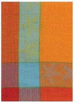 100% Cotton Orange Red & Blue 20