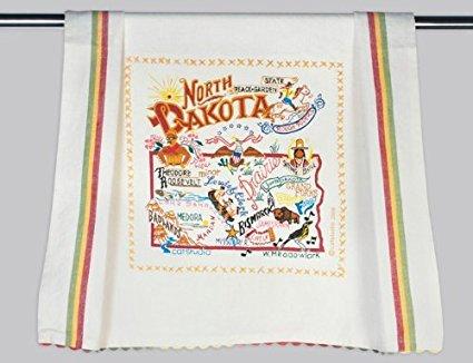 Catstudio North Dakota Dish Towel - Original Geography Collection D?cor 044D(CS) by Catstudio Dish Towel