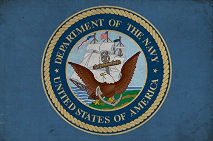 Department of the Navy - Military - Insignia (36x54 Giclee Gallery Print, Wall Decor Travel Poster)
