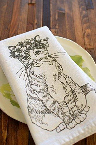 Classy Cat Screen Printed Cloth Napkins - Set of 4
