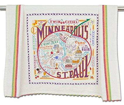 Catstudio Minneapolis St. Paul Dish Towel - Original Geography Collection Décor 125MSP-CS