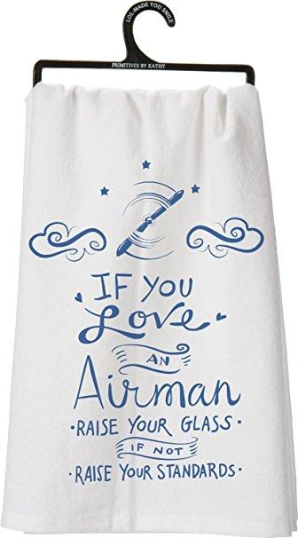 If You Love an Airman Decorative Tea Towel