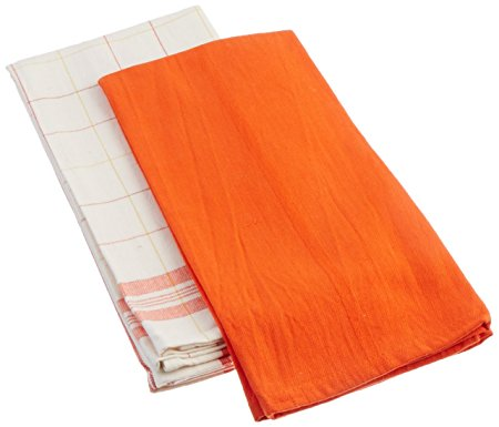 Le Creuset Kitchen Towels, Flame
