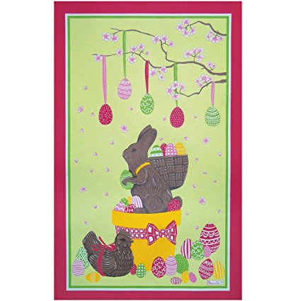 Beauville, Easter Lapin (Easter Rabbit) French Kitchen / Tea Towel, Silk Screen Hand Printed