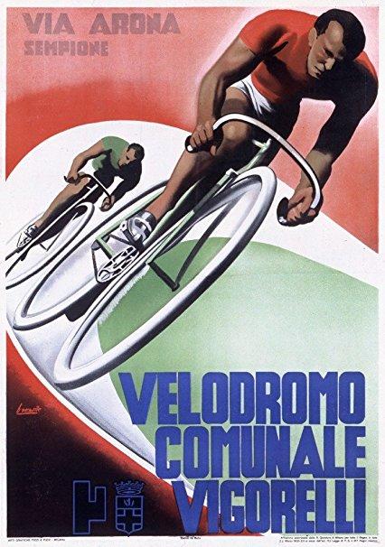 Velodrome Comunale Vigorelli Vintage Poster (artist: Boccasile) Italy c. 1935 (36x54 Giclee Gallery Print, Wall Decor Travel Poster)
