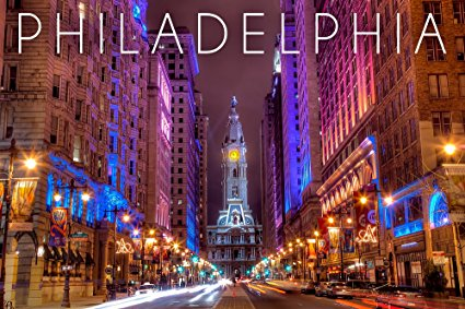 Philadelphia, Pennsylvania - City Hall (36x54 Giclee Gallery Print, Wall Decor Travel Poster)