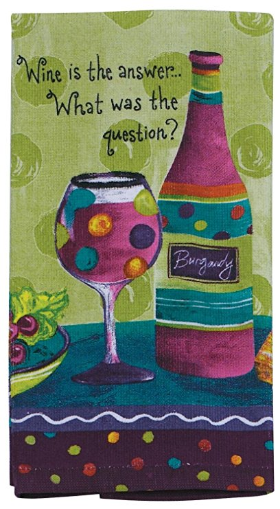 Kay Dee R1020 Wine Is The Answer What Was The Question Kitchen Terry Towel
