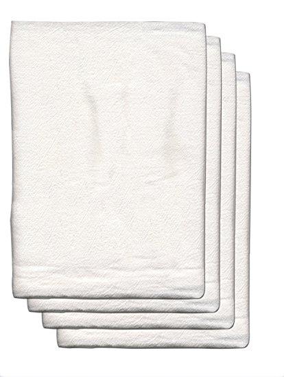 GOURMET PRO 88194 4 Pack Flour Sack 100Percent Cotton Towel (Apx.30X30