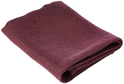 LinenMe Lara Tea Towels, 17 by 28-Inch, Aubergine, Set of 2