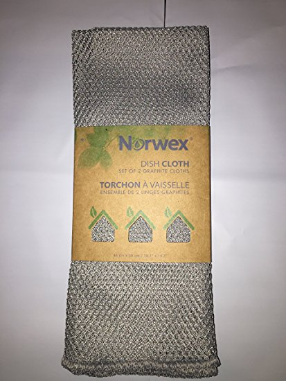 Norwex Netted Dish Cloth - Set of TWO - in Graphite