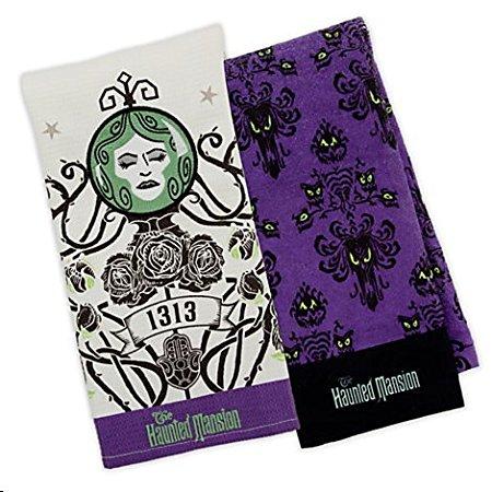 Disney Parks Haunted Mansion Dish Towel Set of 2