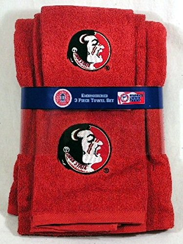 Florida State Seminoles 3 PC Embroidered Bath Towel Set