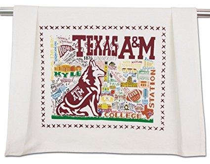 TEXAS A&M UNIVERSITY COLLEGIATE DISH TOWEL - CATSTUDIO