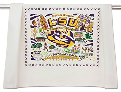 LSU COLLEGIATE DISH TOWEL - CATSTUDIO