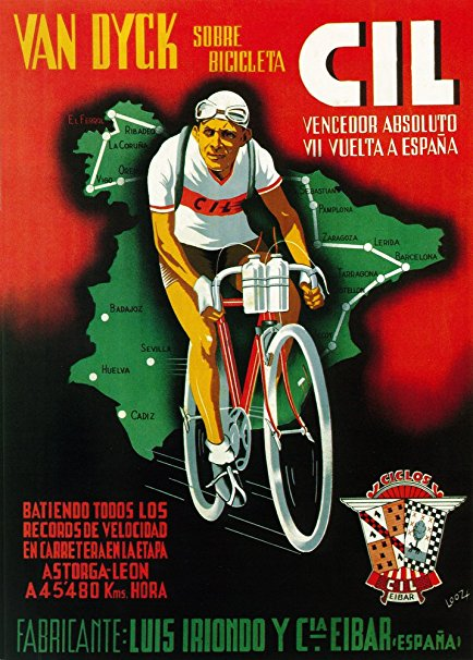 Bicycle Racing Promotion Vintage Poster (16x24 Giclee Gallery Print, Wall Decor Travel Poster)