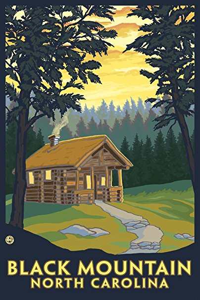 Black Mountain, North Carolina - Cabin Scene (36x54 Giclee Gallery Print, Wall Decor Travel Poster)