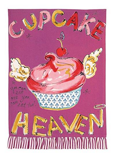 Julia Junkin Cupcake Heaven Kitchen Towel, Pink