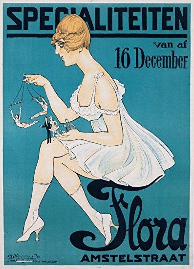 Flora - Specialiteiten Vintage Poster (artist: Verschuuren, Jr.) Netherlands c. 1917 (36x54 Giclee Gallery Print, Wall Decor Travel Poster)