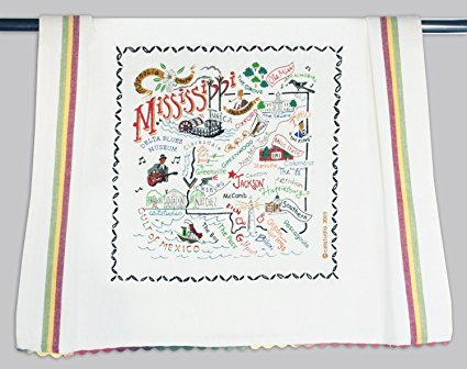 Catstudio Mississippi Dish Towel - Original Geography Collection Décor 033D(CS)