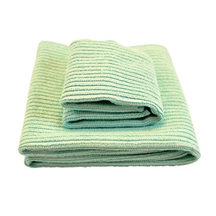 Norwex Antibacterial, Antimicrobial Microfiber Kitchen Cloth and Towel Set in Sea Mist