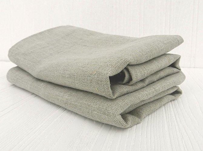 Hand Towels Farmhouse Natural Linen Unbleached (set of 2)