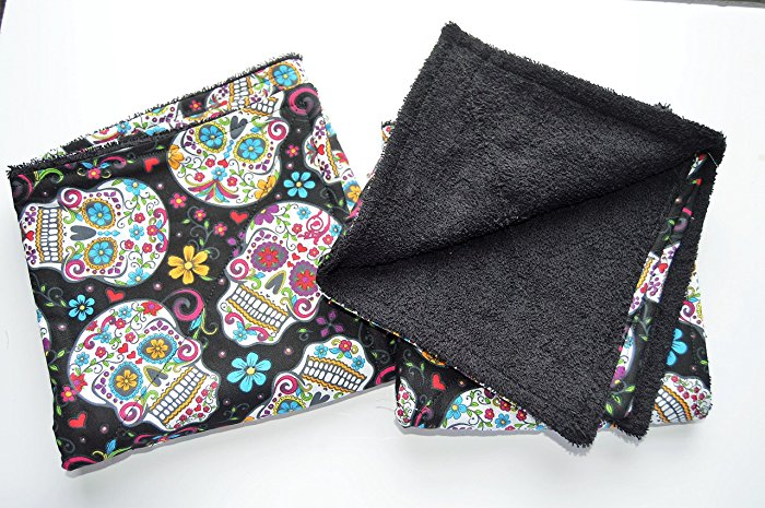 Handmade Kitchen Towels Sugar Skull Day of the Dead Set of 4