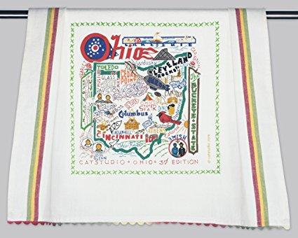 Catstudio Ohio Dish Towel - Original Geography Collection Décor 045D(CS)