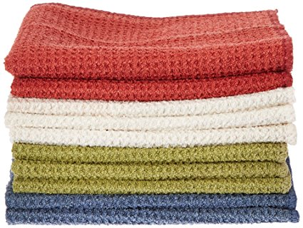 Eurow Microfiber Waffle Weave Multipurpose Dish Cloths Towels Assorted Set of 10