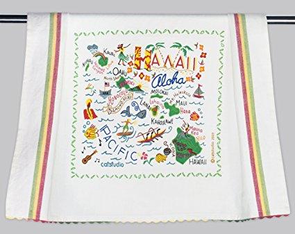 Catstudio Hawaii Dish Towel - Original Geography Collection Décor 017D(CS)