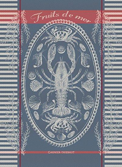 Garnier Thiebaut Maree Bretagne (Brittany Tide) Woven French Kitchen / Tea Jacquard Towel, 100 Percent Cotton