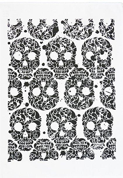 Day of the Dead Skull Design Cotton Tea Towel